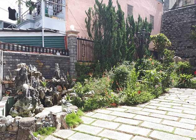 Sân vườn biệt thự Chi Lăng Đà Lạt